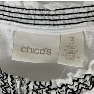 Chico's Jackets & Coats - Chicos Embroidered Linen Short Sleeve Jacket 3